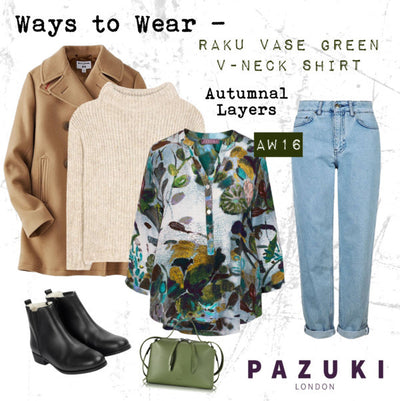 AW16 - Pazuki - Ways to Wear - Raku Vase Green Shirt