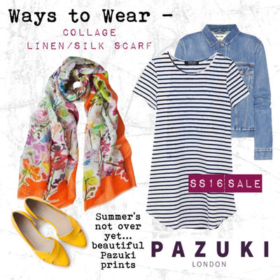 SS16 - Pazuki - Ways to Wear - Collage Linen Silk Scarf