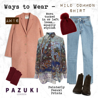 AW16 - Pazuki - Ways to Wear - Wild Common Brown Shirt