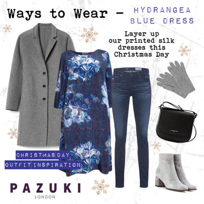 AW16 - Pazuki - Ways to Wear - Hydrangea Blue Trapeze Dress