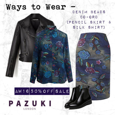 AW16 - Pazuki -  Ways to Wear - Denim Beads Co-ord