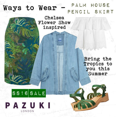 SS16 - Pazuki - Ways to Wear - Palm House Pencil Skirt
