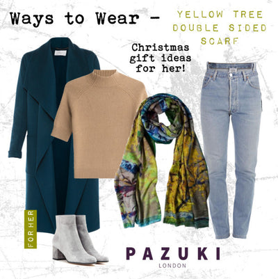 AW16 - Pazuki - Ways to Wear - Yellow Tree Double Sided Scarf