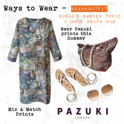 SS17 - Pazuki - Ways to Wear - Susan's Garden Terracotta Tunic & Maze Beach Bag