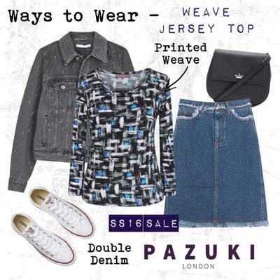 SS16 - Pazuki - Ways to Wear - Weave Blue Jersey Top