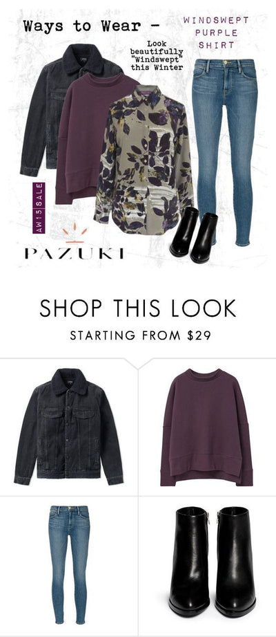 AW15 - Pazuki - Ways to Wear - Windswept Purple Shirt