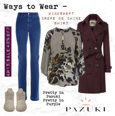 AW15 - Pazuki - Ways to Wear - Windswept Purple Crepe de Chine Shirt
