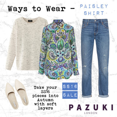 SS16 - Pazuki - Ways to Wear - Paisley Shirt