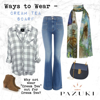 Ways to Wear - Pazuki - SS15 - Cream Tea Scarf