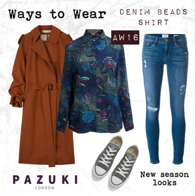 AW16 - Pazuki - Ways to Wear - Denim Beads Shirt