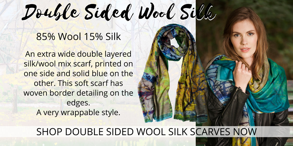 Double Sided - Wool Silk Scarves