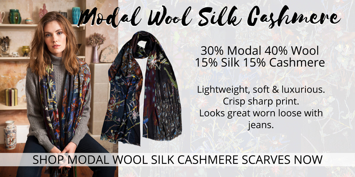 Modal Wool Silk Cashmere - Scarves