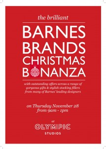 Barnes Brands Christmas Bonanza 28 Nov 13