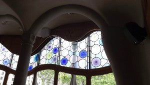 Casa Battlo, Barcelona. I loved the coloured glass, organic forms and mosaic