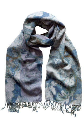 Royal Oak Blue - (DNMH Denim Herringbone) Scarf