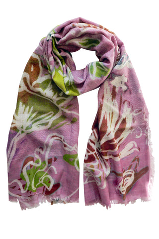 Scribble Pink - (Dobby Wool) Scarf