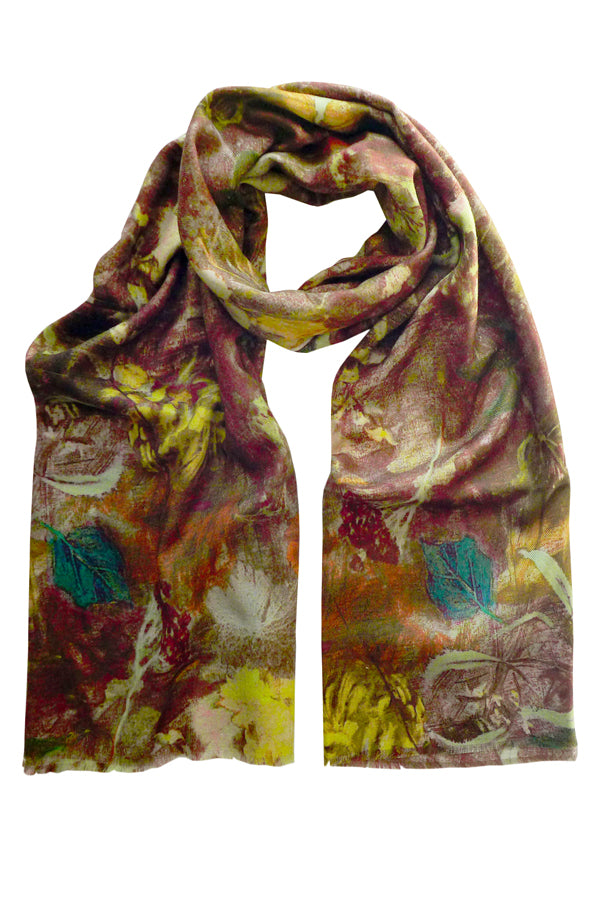 Wildwood Brown - (Wool/Silk) Scarf