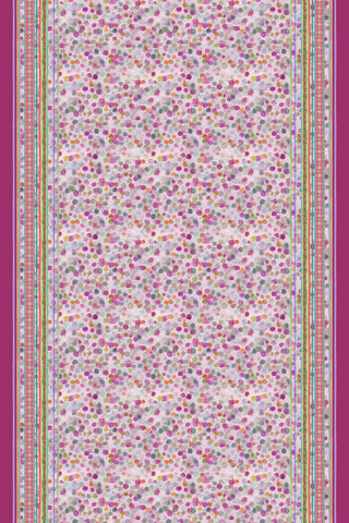 Bubbles Pink - Long Narrow Bias Silk Scarf