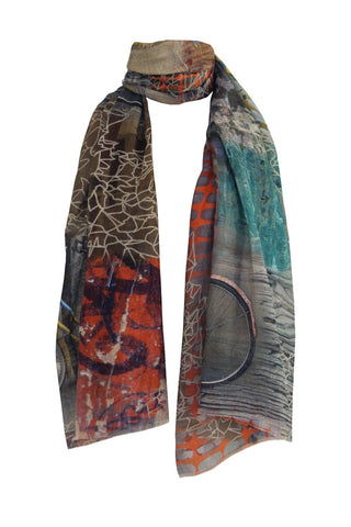 Bicycles - (Linen/Silk) Scarf