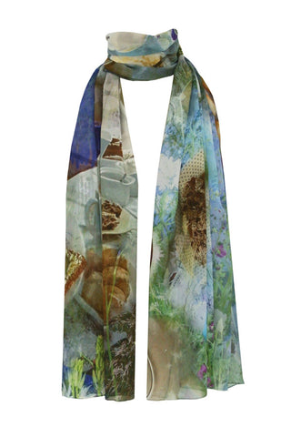 Cream Tea - (100% Silk Georgette) Scarf