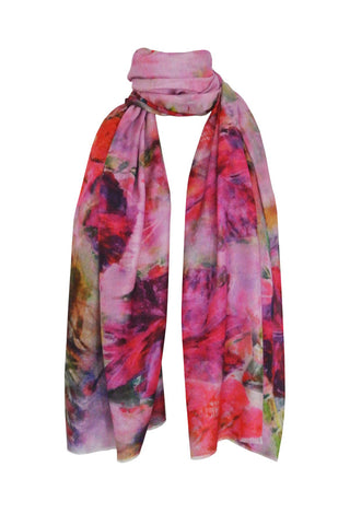 Crushed Petal Pink - (Cotton/Silk/Cashmere) Scarf
