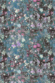 Sommus Damask Rose Teal Long Linen Coat
