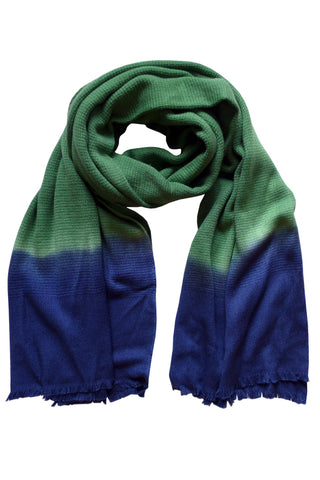 Colour Fusion Green Navy - (100% Wool) Scarf