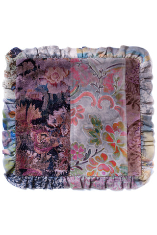 Carpet & Baboushka - Patchwork Frill Cushion