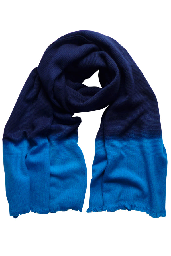 Colour Fusion Navy Electric - (100% Wool) Scarf