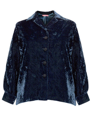 Hand Embroidered - Velvet Boxy Jacket