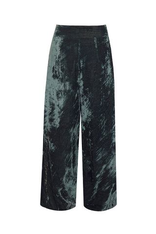 Green Velvet - Wide Leg Velvet Trousers