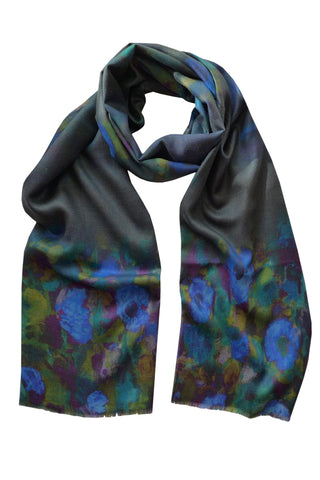 Harmonic Blue - (Wool/Silk) Scarf
