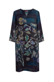 Pazuki | AW18 |  V Neck Tunic Dress - Luminescence Blue - FRONT