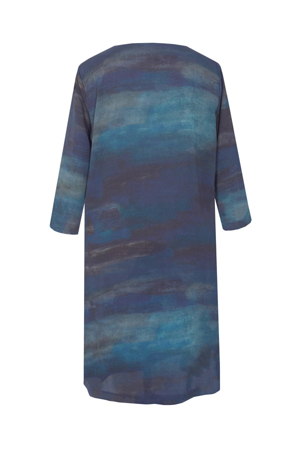 Pazuki | AW18 |  V Neck Tunic Dress - Luminescence - BACK