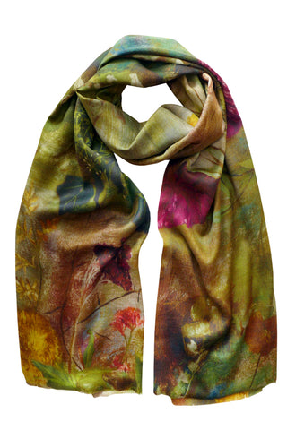 Paradiso Green - (Wool/Silk) Scarf