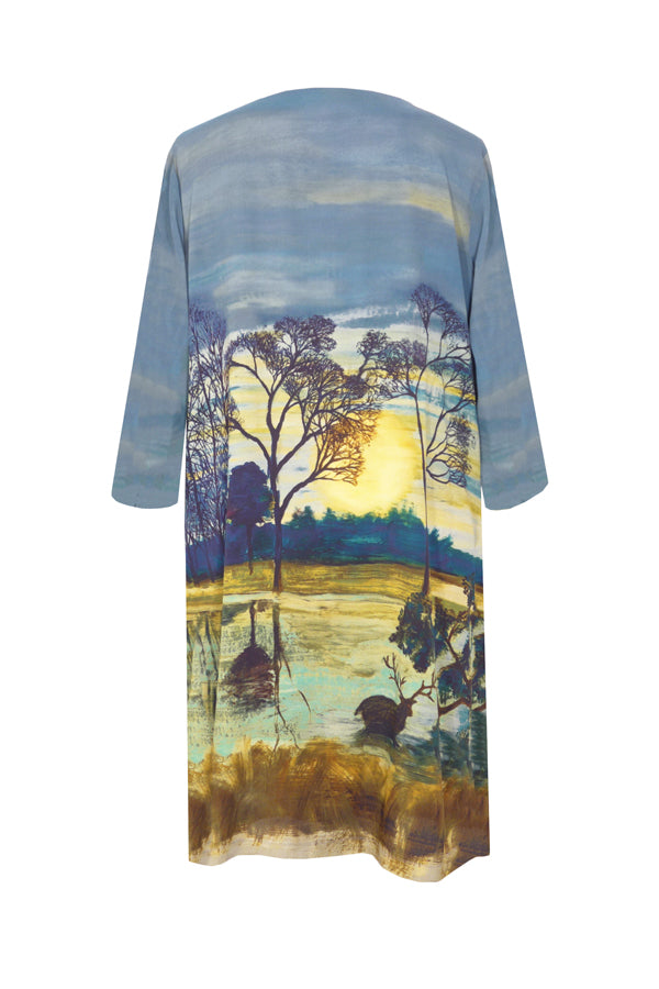 Pazuki | AW18 |  V Neck Tunic Dress - Richmond Park Multi - BACK