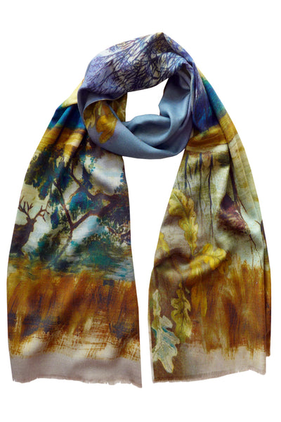 Pazuki | AW18 | Richmond Park | Wool Silk Scarf