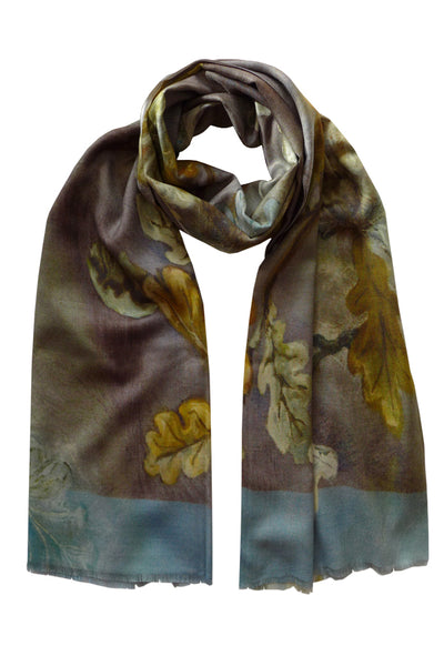 Pazuki | AW18 | Royal Oak | Wool Silk Scarf