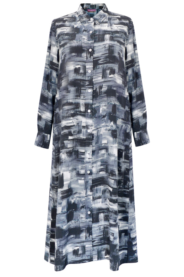 Pazuki | AW18 |  Shirt Dress - Shadowland Grey - FRONT