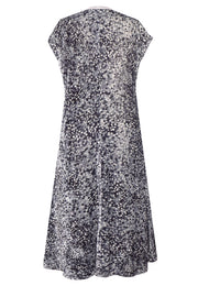 Pazuki | AW18 | Velvet Long Dress with Pockets - Spots Grey - BACK