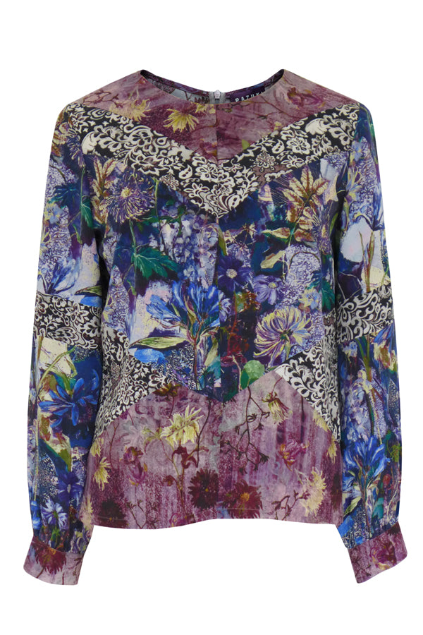 Pazuki | AW19 | Diana Secret Garden Tapestry Panelled Top