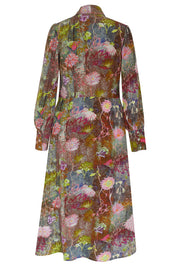 Tapestry Pink Gaia Crepe de Chine Dress