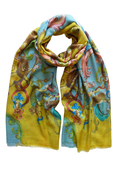 Pazuki | AW19 | Magic Kingdom Gold Wool Silk Scarf