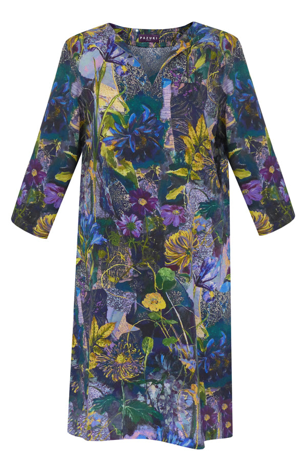 Pazuki | AW19 | Concordia Secret Garden Blue Tunic Dress