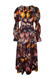 Juno Shangri La Rust Satin Maxi Dress