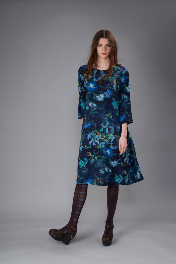 Justitia Shangri La Ultramarine Midi Dress