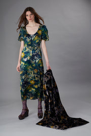 Phene Shangri La Navy Gold Maxi Dress