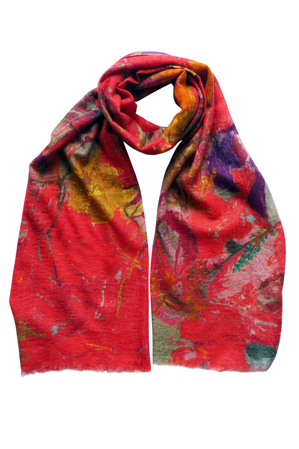 Shangri La Red Cashmere Scarf