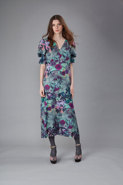 Thalia Shangri La Plum Maxi Dress