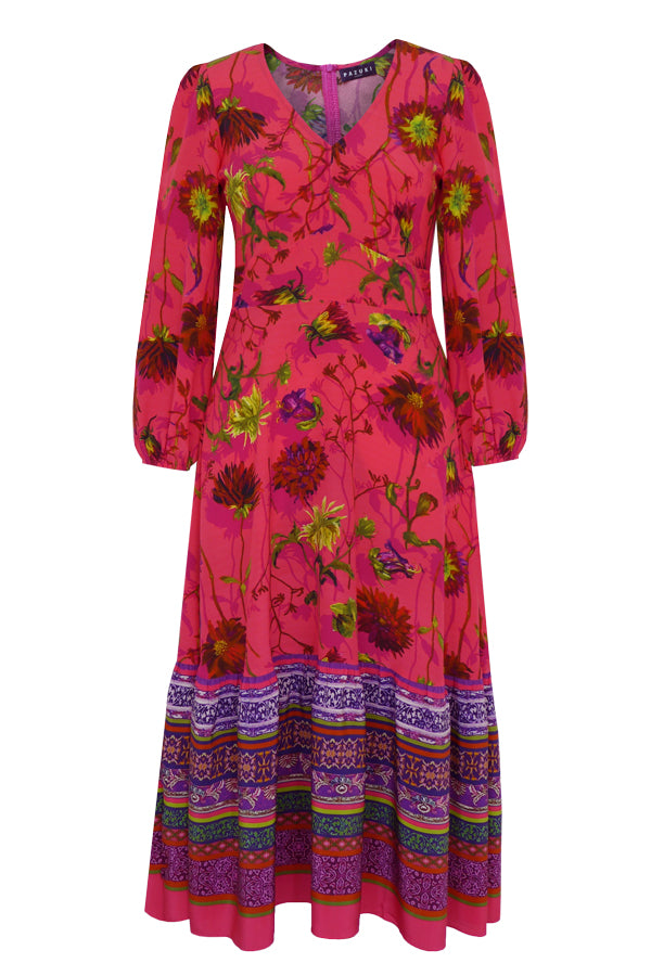 Venus Tapestry Camelia Pink Midi Dress